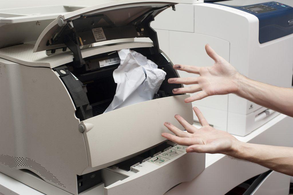 Atasco de papel en la impresora